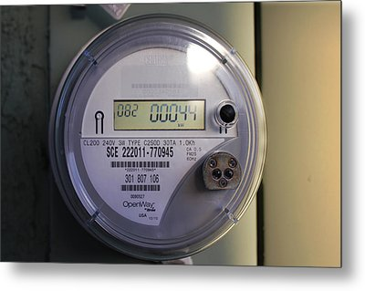 Metal Print featuring the photograph Electric Meter by Richard Stephen