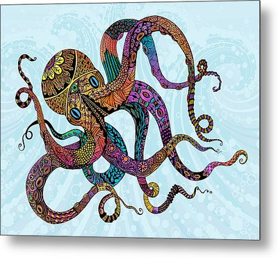 Electric Octopus Metal Print by Tammy Wetzel