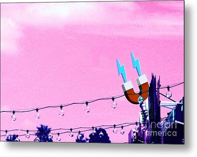 Metal Print featuring the digital art Electric Pink by Valerie Reeves