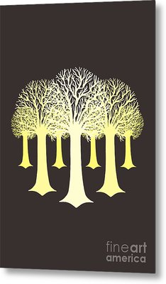 Electricitrees Metal Print