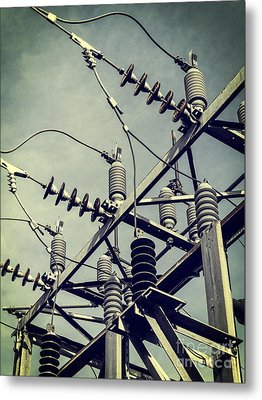 Electricity Metal Print by Edward Fielding