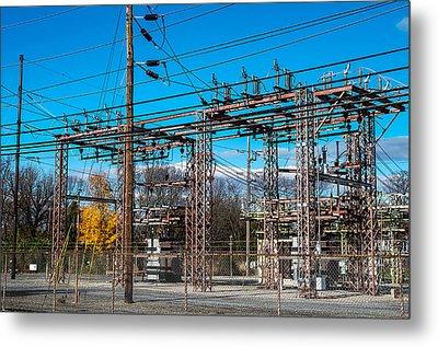 Electricity Station Metal Print