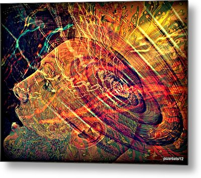 Electromagnetic Waves Metal Print by Paulo Zerbato