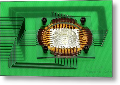 Electronic Compound Eye Camera Metal Print