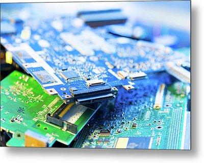 Electronic Printed Circuit Boards Metal Print by Wladimir Bulgar