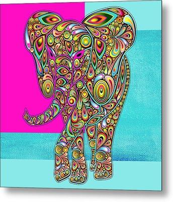 Elefantos - 01ac02aa Metal Print