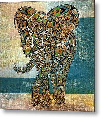 Elefantos - 01ac03at03b Metal Print