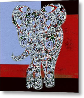 Elefantos - 01ac9at01 Metal Print by Variance Collections