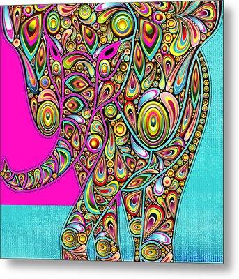 Elefantos - Bg01ac02 Metal Print by Variance Collections