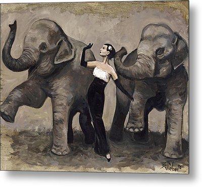 Elegance And Elephants Metal Print