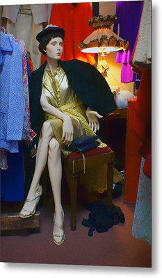 Elegance - Retro Mannequin Metal Print by Nikolyn McDonald