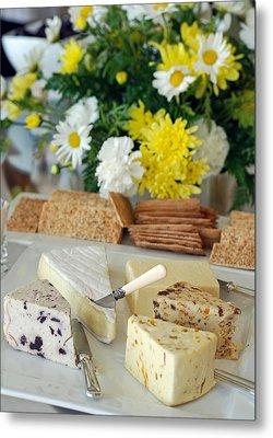 Elegant Cheese Buffet Metal Print