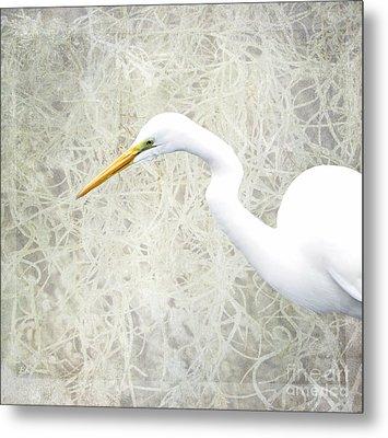 Great White Egret - Home Nature Decor Series Metal Print by Ella Kaye Dickey
