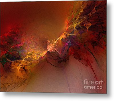 Elemental Force-abstract Art Metal Print by Karin Kuhlmann