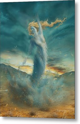 Elements - Wind Metal Print by Cassiopeia Art