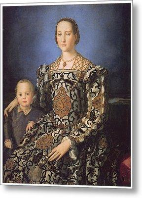 Eleonora Ad Toledo Grand Duchess Of Tuscany Metal Print by Agnolo Bronzino