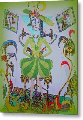 Eleonore Friend Princess Melisa Metal Print by Marie Schwarzer