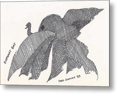 Elephant Bat Metal Print by Fred Jinkins