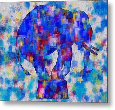 Elephant Blues Metal Print by Jack Zulli