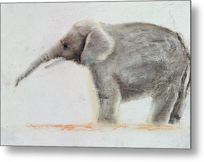Elephant  Metal Print by Jung Sook Nam