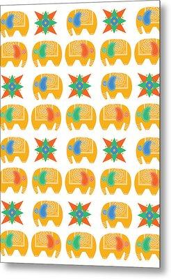 Elephant Print Metal Print by Susan Claire