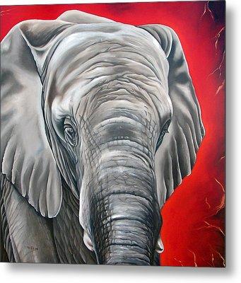 Elephant Six Of Eight Metal Print