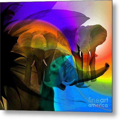 Elephant Walk Metal Print by Sydne Archambault