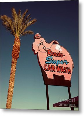 Elephant Car Wash Rancho Mirage California Metal Print by Jim Zahniser
