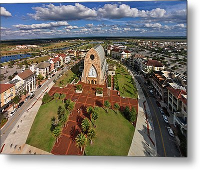 Elevated View Of Ave Maria Oratory Metal Print