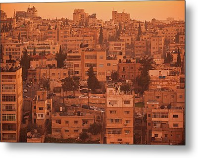 Elevated View Of Jebel Amman Area Metal Print