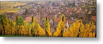 Elevated View Of The Riquewihr Metal Print