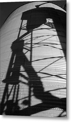 Elevator Shadow Metal Print