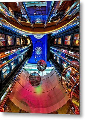 Elevators Aboard The Royal Caribbean Adventures Of The Seas Metal Print