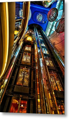 Elevators On The Royal Caribbean Adventures Of The Seas Metal Print