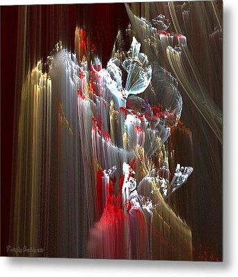 Eleven Kilometers Below The Surface. 2013 70/70 Cm.  Metal Print by Tautvydas Davainis