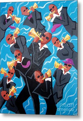 Eleven Pipers Piping Metal Print
