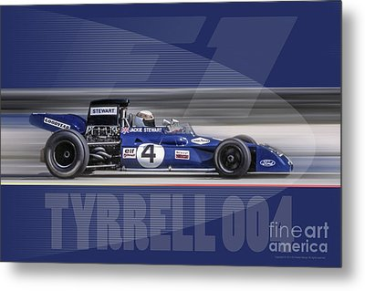 Elf Team Tyrrell 004 Metal Print