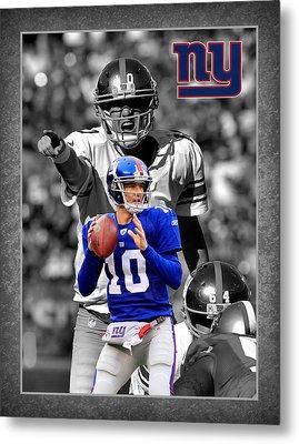 Eli Manning Giants Metal Print by Joe Hamilton