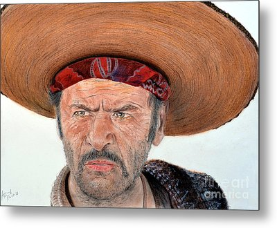 Eli Wallach As Tuco In The Good The Bad And The Ugly Metal Print by Jim Fitzpatrick