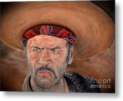 Eli Wallach As Tuco In The Good The Bad And The Ugly Version II Metal Print by Jim Fitzpatrick