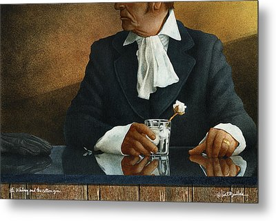Eli Whitney And The Cotton Gin... Metal Print by Will Bullas