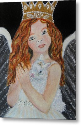 Eliana Little Angel Of Answered Prayers Metal Print by The Art With A Heart By Charlotte Phillips
