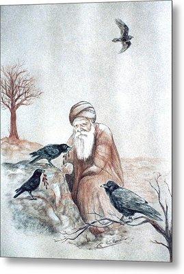 Elijah Fed By Ravens Metal Print by Cati Simon