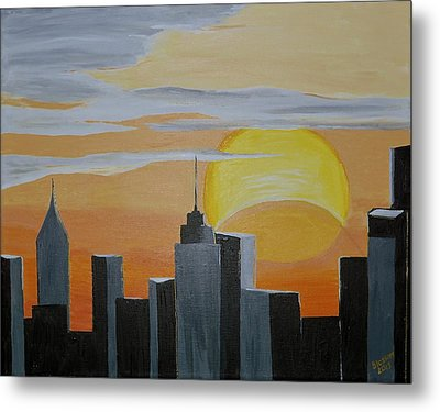 Elipse At Sunrise Metal Print