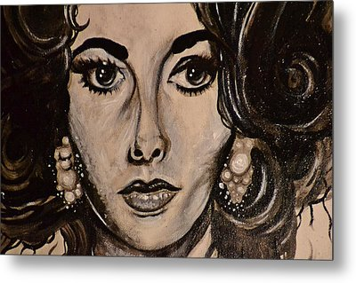 Metal Print featuring the painting Elizabeth by Sandro Ramani