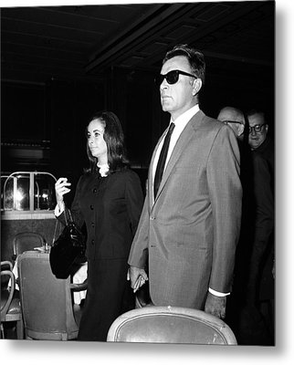Elizabeth Taylor Holding Hands Metal Print by Retro Images Archive