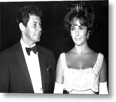 Elizabeth Taylor With Husband Metal Print by Retro Images Archive