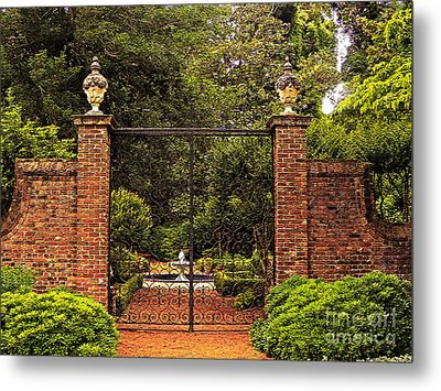 Elizabethan Gardens Metal Print by Lydia Holly