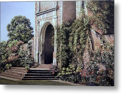 Metal Print featuring the painting Elizabethan Tower by Rosemary Colyer