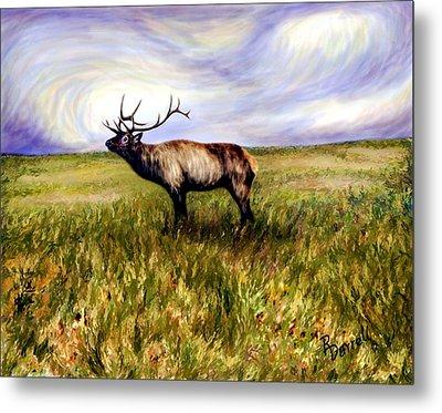 Elk At Dusk Metal Print by Ric Darrell
